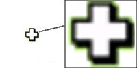 Cursor Excel cruz blanca gruesa