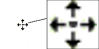 Cursor Excel cruz de movimiento de celda
