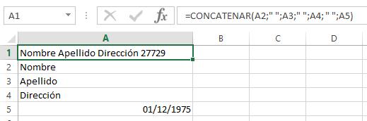 Concatenar con fechas