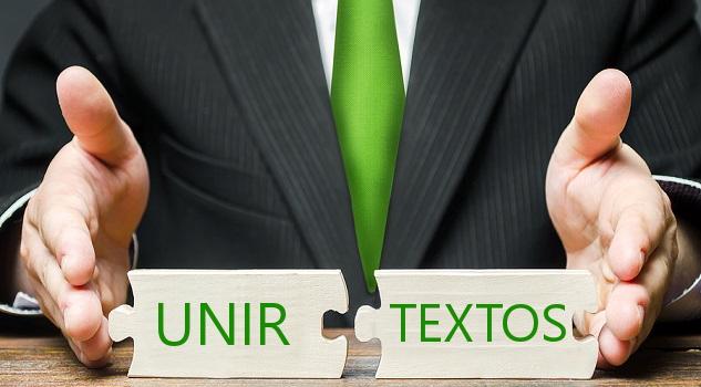 Unir textos con concatenar