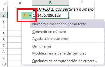 boton desplegable de aviso de error en Excel