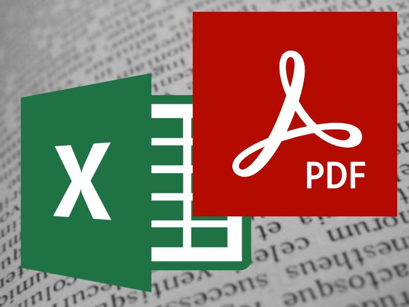 Excel a PDF